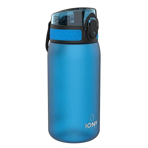 Ion8 Leak Proof Kids' Water Bottle, BPA Free, 400ml / 13oz, Blue