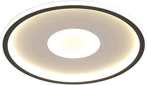 ZHANGL Lámpara de techo ultra delgada Lámpara de techo Dimmable LED Moderna LED creativa Lámpara de techo de silicona de Ø60cm con control remoto Sala de estar Estudio Lámpara de oficina 50W 3750lm [u