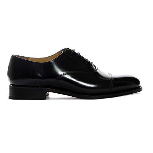 George Webb Zapatos de Cordones para Hombre Negro 100% Cuero Made in England