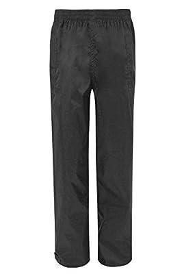 Mountain Warehouse Pakka Mens Waterproof Rain Pants - Black Large