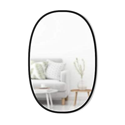 Umbra Hub Oval Wall Mirror, 24 x 36-Inch, Black
