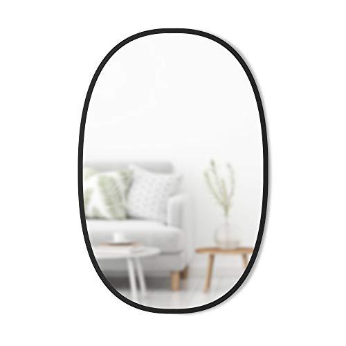 Umbra Hub Espejo Oval por Umbra - Espejo de Pared para entradas, lavabos, salón y Mucho más, Color Negro