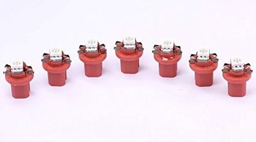 7x rote high Power B8.5D LED Tachobeleuchtung Umbauset