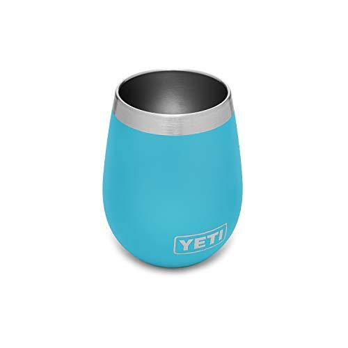 yeti wine tumbler with lids YETI Rambler 10 oz Wine Tumbler, Vacuum Insulated, Stainless Steel, Reef Blue