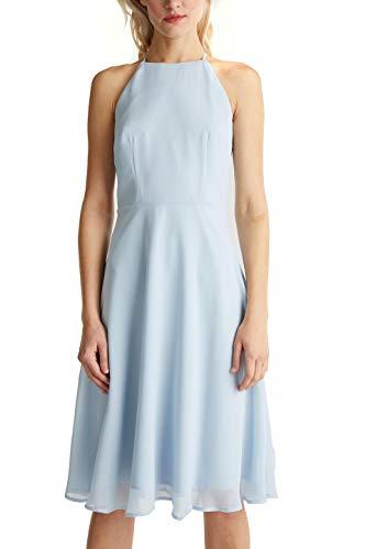 ESPRIT Collection Damen 040EO1E342 Kleid, 435/PASTEL BLUE, 36