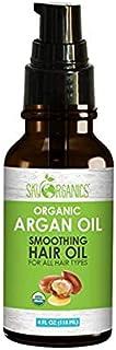 Sky Organics USDA Organic Moroccan Argan Oil: Unrefined, 100% Pure, Cold-Pressed, Moisturizing & Healing, for Dry Skin, Sensitive Skin, Hair Conditioning, Cruelty Free, Vegan, 4 oz
