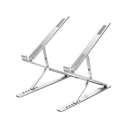 HKALL Laptop stand, adjustable height laptop stand bracket laptop riser ipad stand for laptop (10-17 inch) compatible with MacBook Pro/Air, Surface, Samsung, HP - Silver