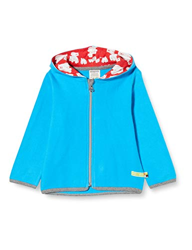 loud + proud Kinder-Unisex Fleece-Jacke, Aqua, 122/128