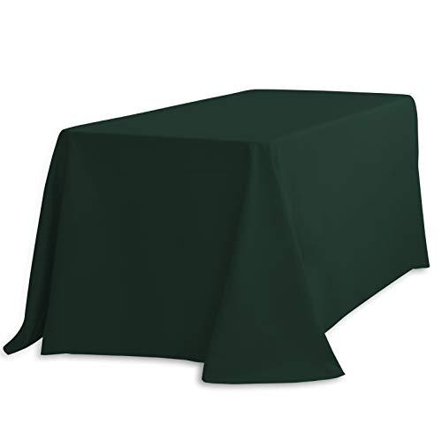 LinenTablecloth 90 x 396,2 cm Nappe Rectangle Polyester Hunter Vert