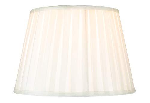 Traditionele klassieke crème faux zijde geplooide innerlijke gevoerde lampenkap - 12