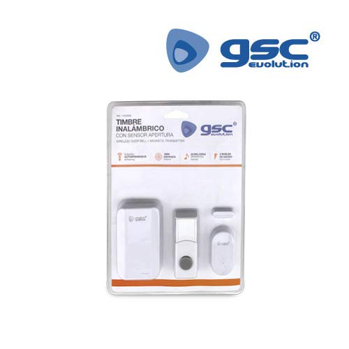 GSC draadloze deurbel + sensor openingsopening 150 m 001403693