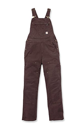Carhartt Women's Crawford Double Front Bib Overalls, Dark Brown, X-Small Short