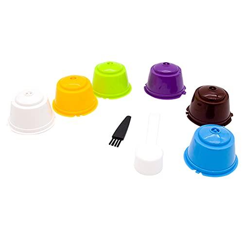 UNIhappy Cápsulas de café recargables, 6 unidades, filtros de cestas para Dolce Gusto Cafe Tools