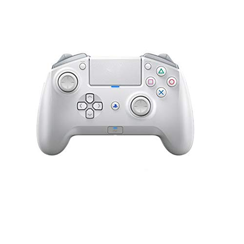 Ouqian Manette de Jeu Rose Gamepad Wireless Game Controller Gamepad Bluetooth Peut être utilisé for Ordinateur Mobile Gaming Portable Joystick Poignée (Couleur : White, Size : 159x10.4mm)