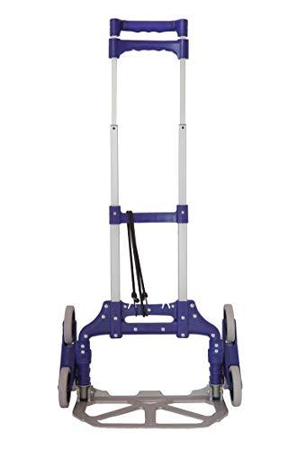 Jumbo Carrello Portapacchi 3 Ruote Pieghevole per Scale Carrello Trasformabile per Salita Scale 100% Alluminio con Maniglia Allungabile e Richiudibile