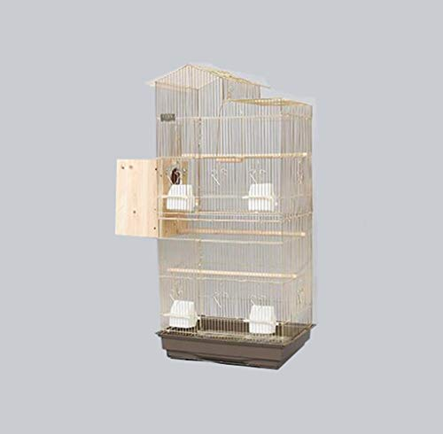 Gabbia per uccelli in metallo dorato, per cockatiels, monaci, parrocchetti, parrocchetti, ecc. 47.5*36*100CM b