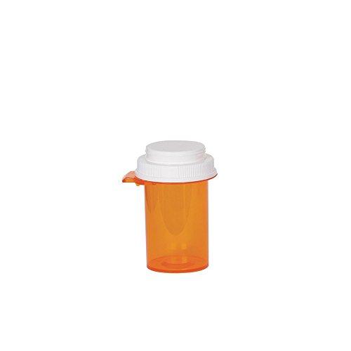 Ezy Dose Pill, Medicine, Vitamin Container & Vial | 16 Dram Storage | Child-Resistant Cap | Case of 160