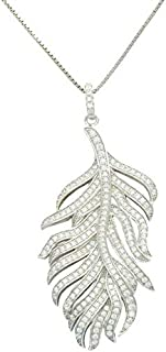 Necklace For Women rhodium plated by Parejo, Silver