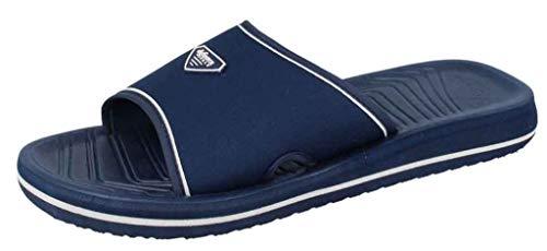 de fonseca Pantofole Ciabatte Mare Uomo MOD. Amalfi M506 Velcro Blu (42/43)