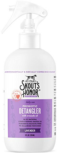 SKOUT'S HONOR: Probiotic Detangler - 8 fl. oz. - Hydrates and Deodorizes Fur, Supports Pet's Natural Defenses, PH-Balanced and Sulfate Free with Avocado Oil
