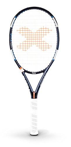 Pacific BXT Speed de sin Cordaje de Raqueta de Tenis con Funda, Color Azul Oscuro/Blanco, tamaño 1: (4 1/8)