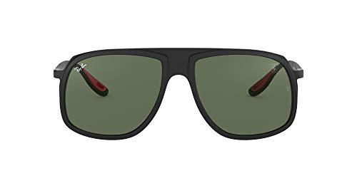 Ray-Ban Herren 0RB4308M F60271 58 Sonnenbrille, Schwarz (Matte Black/Green)