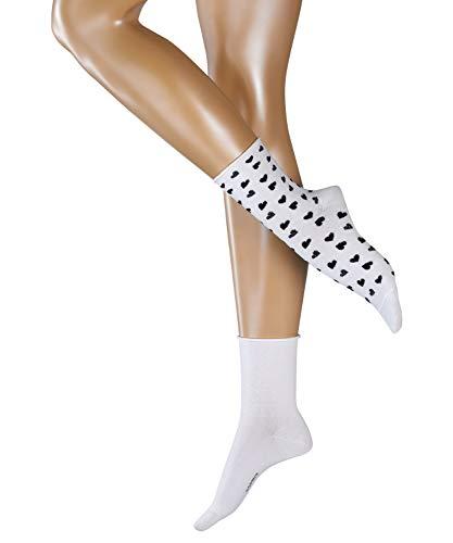 ESPRIT Damen Socken Hearts 2-Pack, Baumwollmischung, 2 Paar, Weiß (Off-White 2040), Größe: 36-41