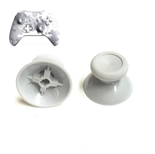Timorn 2 PCS Replacement 3D Joystick Thumbsticks Analogue Thumb Stick Grip for Playstation 4 PS4 Controller Repair Parts White