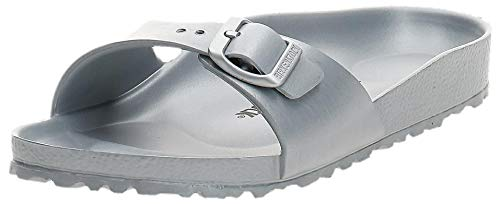 Birkenstock Damen Madrid EVA Sandalen, Silber (Metallic Silver), 39 EU