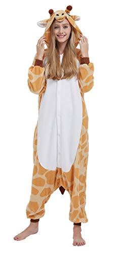 Adultos Animal Pijamas Cosplay Animales de Vestuario Ropa de Dormir Halloween y Carnaval Disfraces Jirafa XL