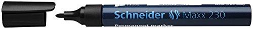 Schneider Maxx 230 - Marcadores permanentes, con cuerpo de aluminio, color negro