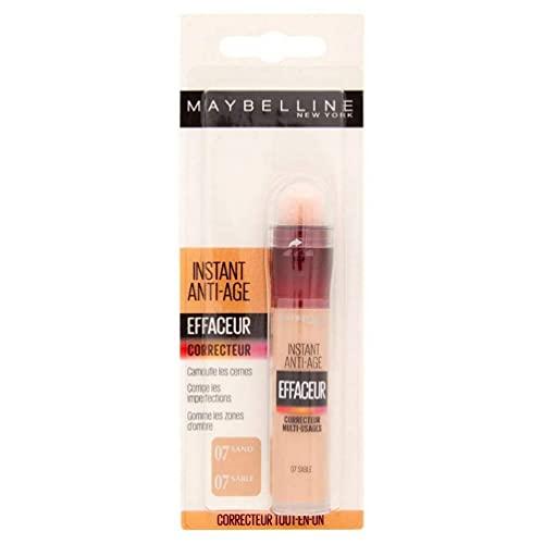 Maybelline New York – Anti-occhiaie correttore liquido – Instant Anti-Age – 07 Sabbia – 6,8 ml