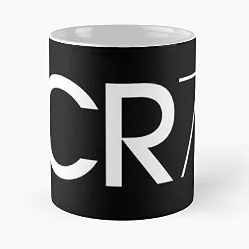 N\A Oro Cristiano 7 De Ronaldo Portugal Balon Real Madrid Cr7 - La Mejor Taza de cerámica de 11 onzas - Taza clásica para café, té, Chocolate o Latte