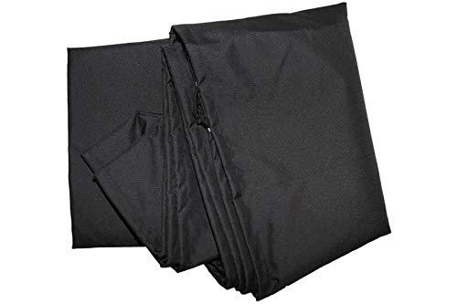 OUTFLEXX Premium Abdeckhaube Größe L für Sonnenschirme bis Ø400cm, schwarz, wasserbeständig, Ø70x292cm
