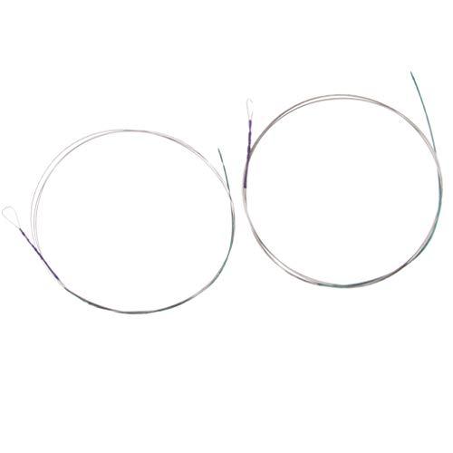 B Baosity 2tlg Zhonghu Saiten String Ersatzsaiten, Äußere Schnur + Innere Schnur, Silber