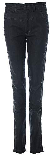 Drykorn Damen Jeans Hose Straight Leg High Waist Dark Wash (Black, W28 L34)