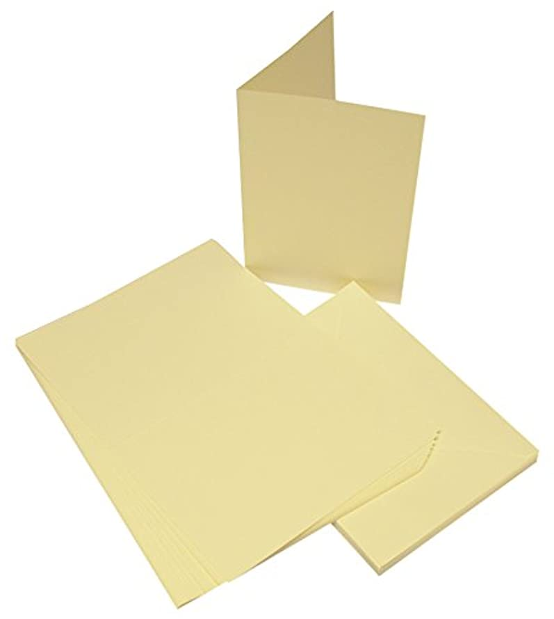 Craft UK 864 C5 Card and Envelope Pack of 25 - Ivory