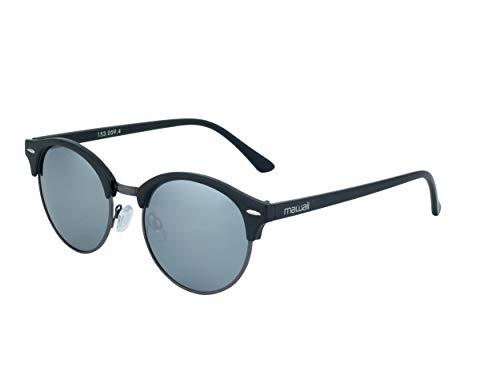 Mawaii Sunglasses Ripley - polarisierte Sonnenbrille für Damen und Herren, Sportsonnenbrille, Rahmen matte black/gunmetal, Gläser smoke flash mirror