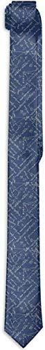 Funny Z Corbata para Hombres Matemáticas Fórmulas y Ecuaciones Matemáticas Pn Corbatas de Seda Azules de Moda Corbatas de Regalo Únicas