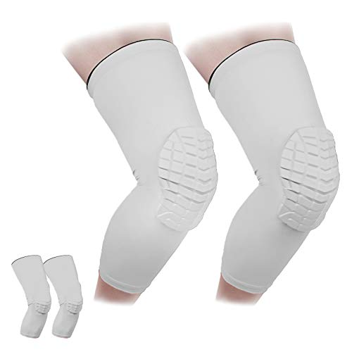 Cantop Knee Pads Compression Leg Sleeve for Volleyball Basketball Football Youth & Adults, Sold as Pair (2pcs)
