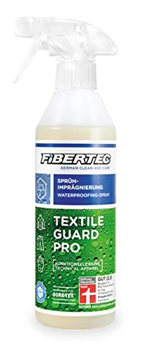 FIBERTEC - Imperméabilisant, Transparent, 500ML - pour imprégnation du Textile - « Guard Pro »