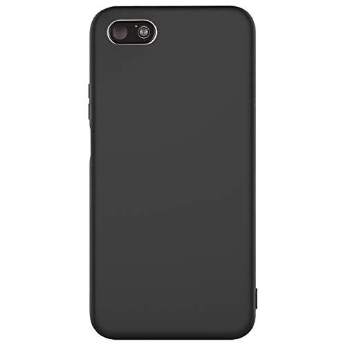 Compatible para Xiaomi Redmi 6A Funda(Negro) Suave TPU Silicona Carcasa+3D Vidrio Templado Protector de Pantalla/Case Ultra Fina Anti-Caída Protección Funda para Xiaomi Redmi 6A-2017