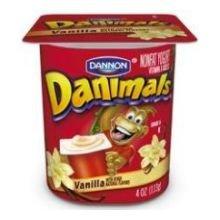 Danimals Vanilla Nonfat Yogurt , 4 Ounce Cup -- 48 per case.