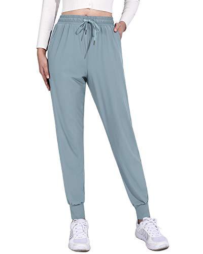 G4Free Pantalones Chándal Deportivos de Yoga para Mujer de 2 Rayas con Bolsillos Cordón y Puños Elásticos para Danza Fitness Jogging