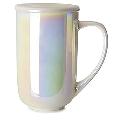 DAVIDsTEA Opalescent Nordic Mug with Handle and Lid, Extra Large Cup, Keeps Drinks Hot or Cold, Perfect for Tea Lattes, 16 oz / 473 ml
