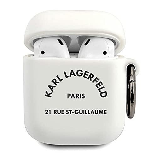 Karl Lagerfeld KLACA2SILRSGWH - Funda para AirPods (Silicona), Color Blanco