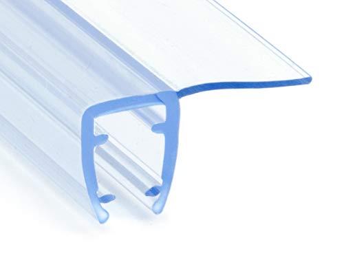 DQ-PP Duschdichtung 200cm | Dichtung für 3,5mm – 5mm Glastür Stärke | UK01 | Wasserablaufprofil Wasserabweisprofil | Duschkabinen Duschabdichtung Duschwand | Ersatzteile für Duschkabine | Transparent
