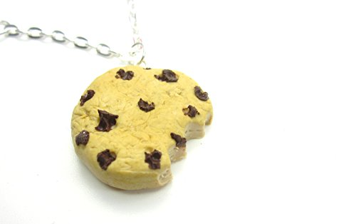 schmuck-stadt Angebissene Schokoladen Keks Kette 60 cm Handmade