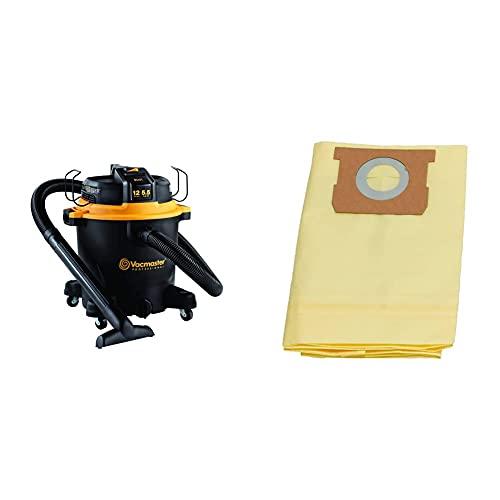 Vacmaster Professional - Professional Wet/Dry Vac, 12 Gallon, Beast Series, 5.5 HP 2-1/2' Hose (VJH1211PF0201) & 12-16 Gallon High Efficiency Dust Bag, 3 Pack, VHBL