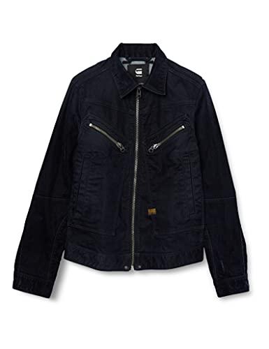 G-STAR RAW Mens Air Force Slim Denim Jacket, Mazarine iced Flock C554-C081, XXL